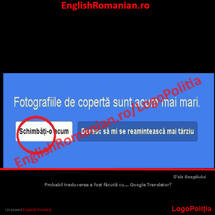 LogoPolitia-google plus. Printscreen de pe Google Plus